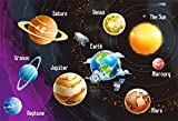 LFEEY 7x5ft Solar System Backdrop Astronomy Education Science Exploration Universe Galaxy Space Planets Celestial Stars Photography Background Photo Studio Props