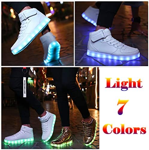 Voovix Unisex LED Shoes Light Up Shoes High Top Sneakers - 4