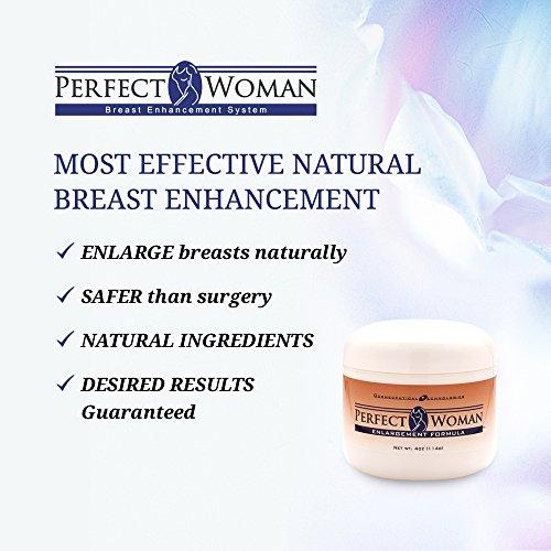 Breast Enhancement Cream by Perfect Woman- 0.25 lbs Herbacin Kamille Lip Balm - 0.17 Oz, 3 Pack