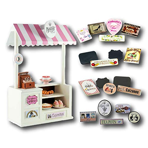 The Queen's Treasures Wooden Concession Shoppe & Changeable Signs for 18
