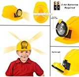 [Set of 6] Dress Up Pretend Play Hats Helmets for Kids - Halloween Costume Role Play Variety Pack (Police, Fireman, Construction, SWAT, Cowboy, Army)