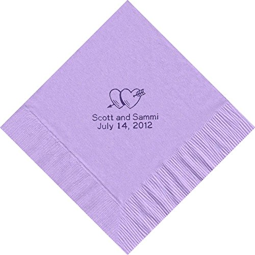 50 Printed Personalized Luncheon Dinner Party Napkins