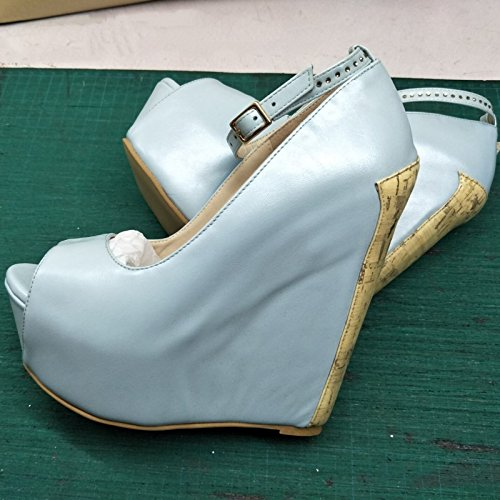 VIVIOO High 45 7 14 Wedges Size 5 Leather Silver Sandals Shoes Stylish Prom 34 Elegant Heeled Cm Pumps Silver Shoes 4Tgqvr4w