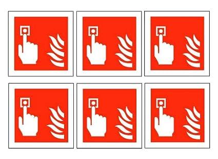 Pulsador de alarma alarmas de incendio símbolos - unidades ...
