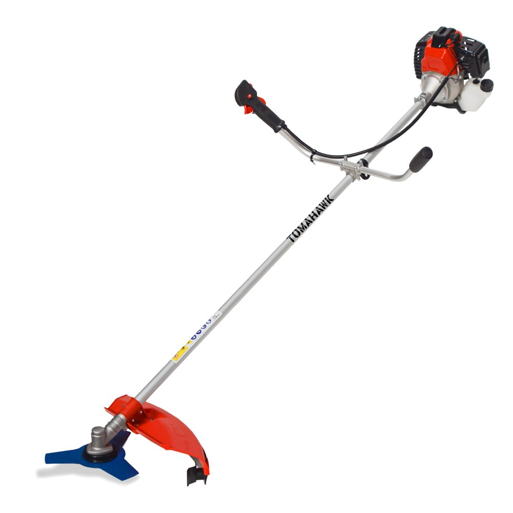 2-cycle 43cc Pro Gas Straight Shaft Trimmer and Brush Cutter for Lawn Garden