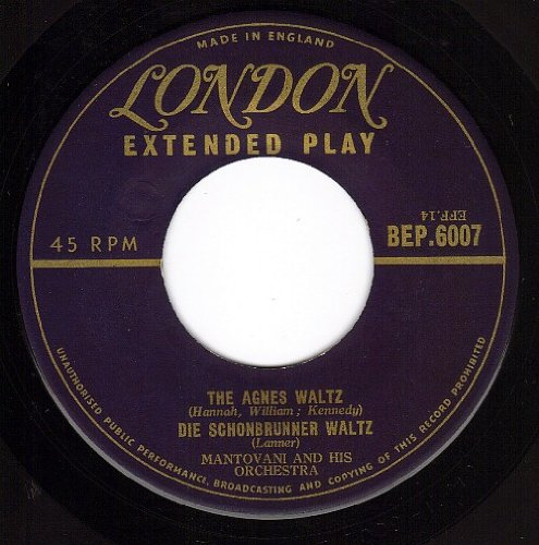 THE AGNES WALTZ / DIE SCHONBRUNNER - WALTZ (45/7'') by LONDON 451236