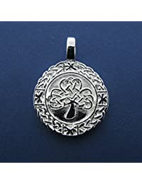 """Silver Plated Pendant In Shamrock And Knotwork Design on 20"""" Extendable Chain"""