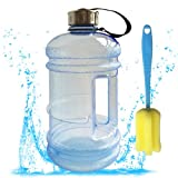 Sports Fitness Best Deals - High Capacity 2.2 Liter Sports Water Bottles Sprtjoy BPA Free Resin Bottle Portable Outdoor Fitness Training Jug Container (Blue)