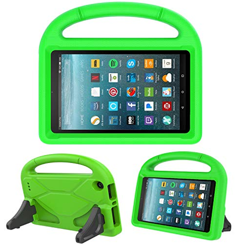 Kids Case for New Fire 7- TIRIN Light Weight Shock Proof Handle Kid –Proof Cover Kids Case for Amazon Fire 7 Tablet (5th Generation, 2015 Release and 7th Generation, 2017 Release),Green