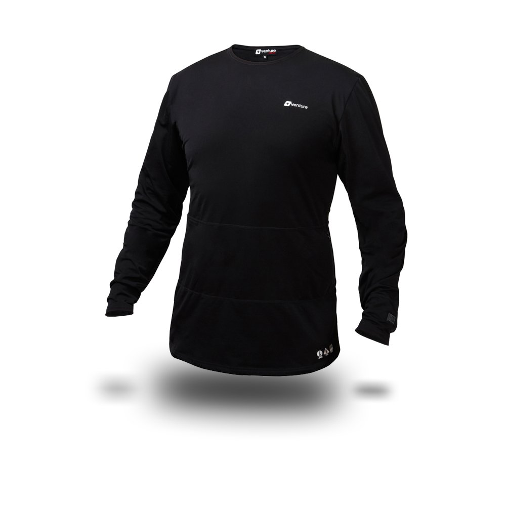 VentureHeat Battery Heated Base Layer Top with Tri-Zone Heating Area (Black, X-Large) by Venture Heat (Image #3)