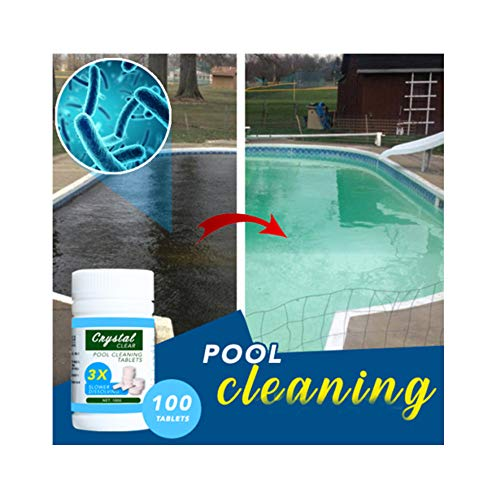 DZTZ Pool Cleaning Tablet Effectively Guard Against Bacteria Blgae and Other Organisms Pool Cleaning Net Cleaning Supplies, Sterilization, Pool Purifier (100g)