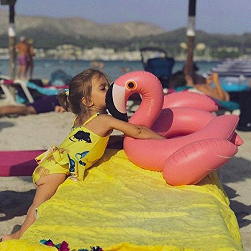 Kiddy Flamingo Float By Inflatable Pink Kiddy Swim Ring Pool Float Ride-On Swimming Pool Toys Durable Unique Design Fast Blow Up /& Fun on the Water for Adults /& Kids