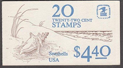 US 1985 Seashells Stamps Booklet #BK147