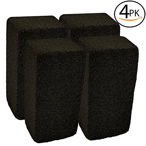 Upper Midland Products Grill Griddle Cleaning Brick Block, Pack of 4 - Pumice Cleaner Stone tool For Grates, Flat top Cookers and Stoves in (Commercial Outdoor Brick)