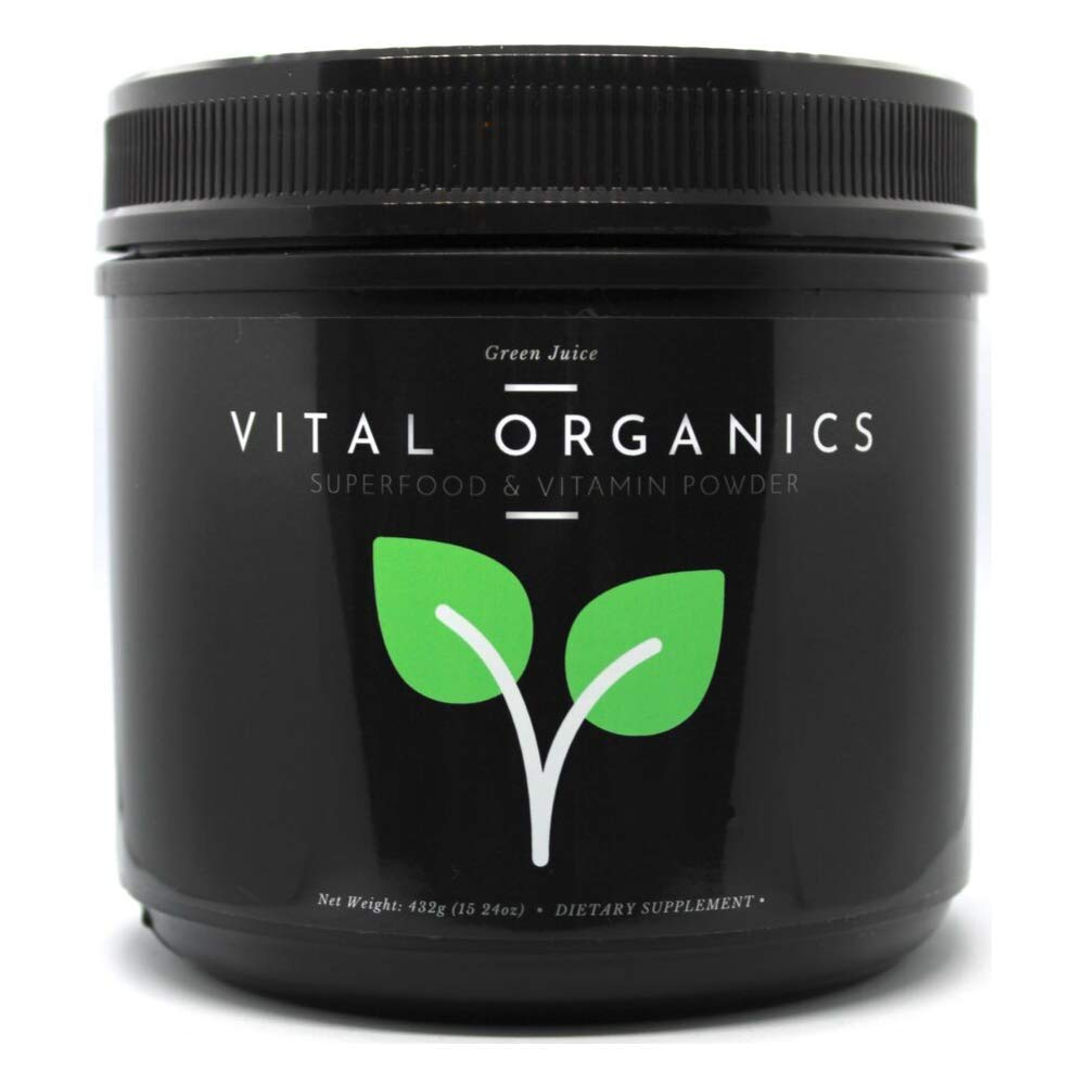 Vital Organics Green Juice Superfood Vitamin Powder All in 1 Scoop 100 Daily Value of 22 Essential Vitamins 14 Powerful Superfoods Best Supplement for Energy, Detox, Immunity 30 Servings
