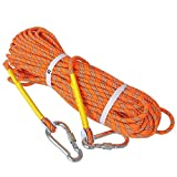 AsPro Rock Climbing Rope, Premium Quality 10mm Diameter, x 20m (64ft) length, Great For Tree and Mountain Climbing, Gym Exercise, Connect to Climbing Harness, Escape Rope, For Camping, Hiking,