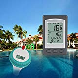 Leoie Swimming Pool Thermometer Wireless Remote Floating Thermometer for Hot Pond SPA