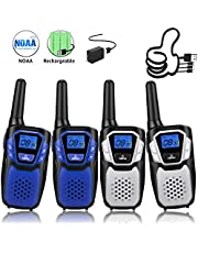 Topsung Walkie Talkies for Adult, Easy to Use Rechargeable Long Range Walky Talky Handheld Two Way Radio with NOAA for Hiking Camping