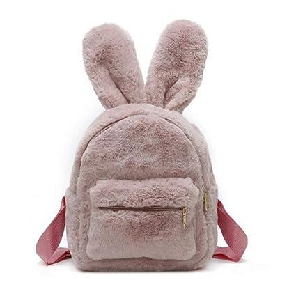Mochilas de Piel Encantadora para Mujer Orejas de Conejo ...