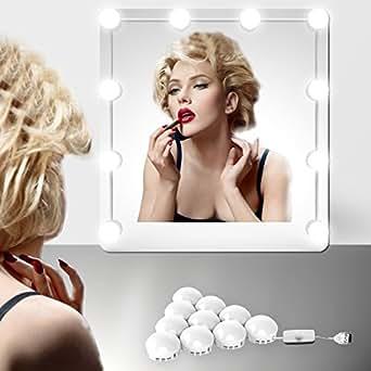 Eeieer luces de espejo de tocador o mesa de maquillaje for Espejo con bombillas