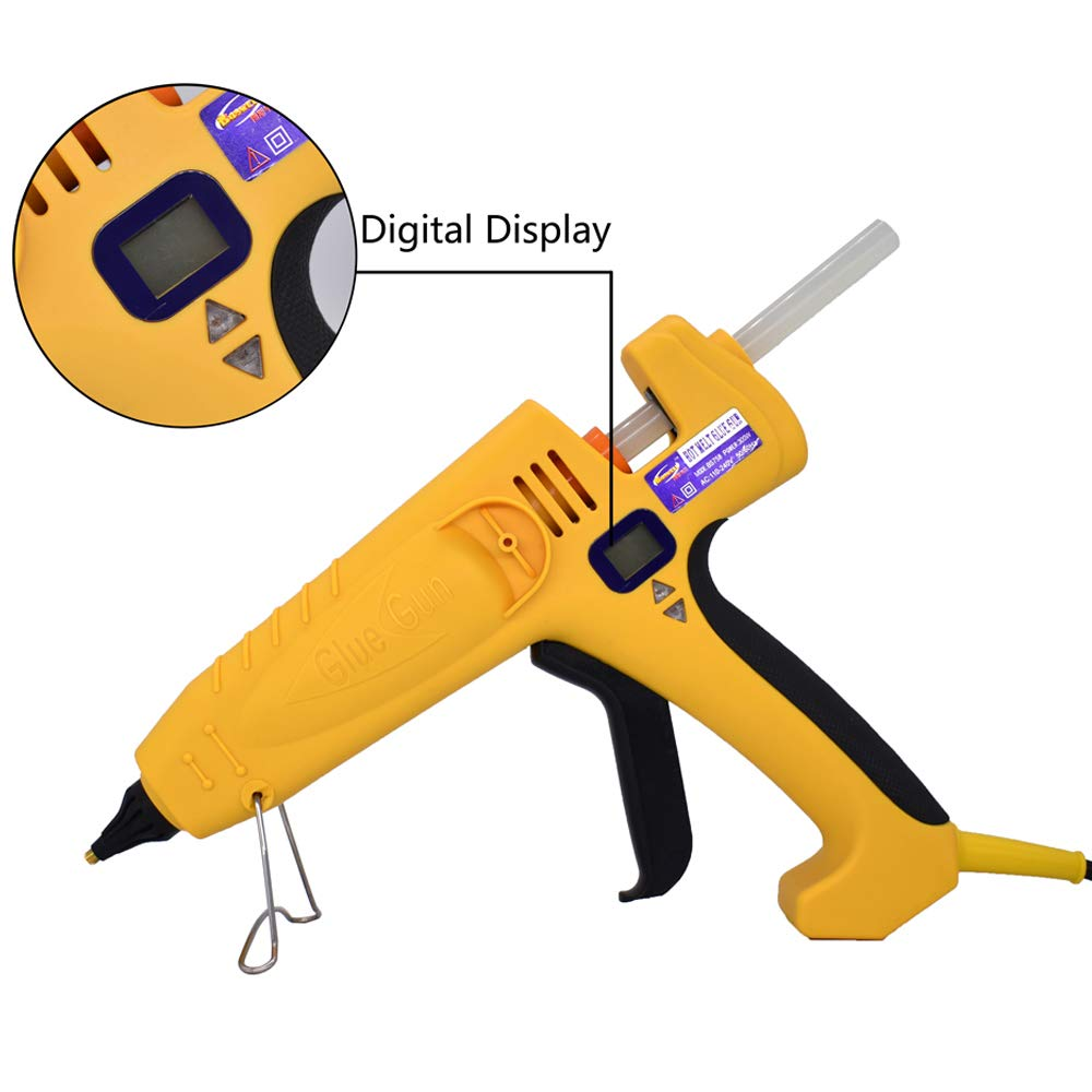 Industrial Hot Glue Gun Full Size High Power 500W Temperature Adjustable Thermostat Control with 0.43'' 11mm Glue Sticks, Heavy Duty for Industrial, Household, Arts Crafts Decoration Repairs, Not Mini