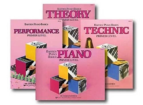 Bastien Piano Basic Primer Level (Set of 4, Lesson, Theory, Technic, Performance)