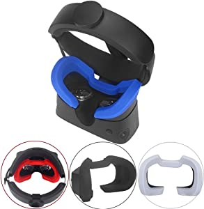 Esimen Silicone Cover Mask & Face Pad for Oculus Rift S Standard Facial Pad, Reusable Sweatproof Lightproof (Blue)