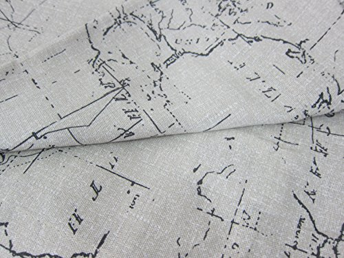 Spencer Home Decor Carte Window Curtains Panels 54 By 84 Inch Set Of 2 World Map
