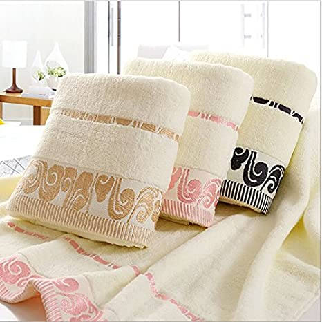 narwaldate 100% de algodón toalla de baño (Golden bordado construcción de secado rápido toallas 70 x 140 cm toallas para Home Hotel de baño suave toallas de ...