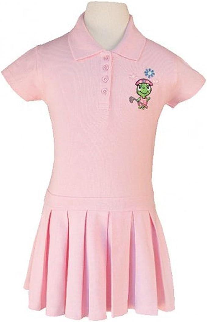 Littlest Golfista bebé niñas rosa claro Logo Polo plisado vestido de ...