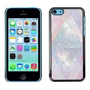 FECELL CITY // Duro Aluminio Pegatina PC Caso decorativo Funda Carcasa de Protección para Apple Iphone 5C // Universe Mysterious Cosmos Stars Lines