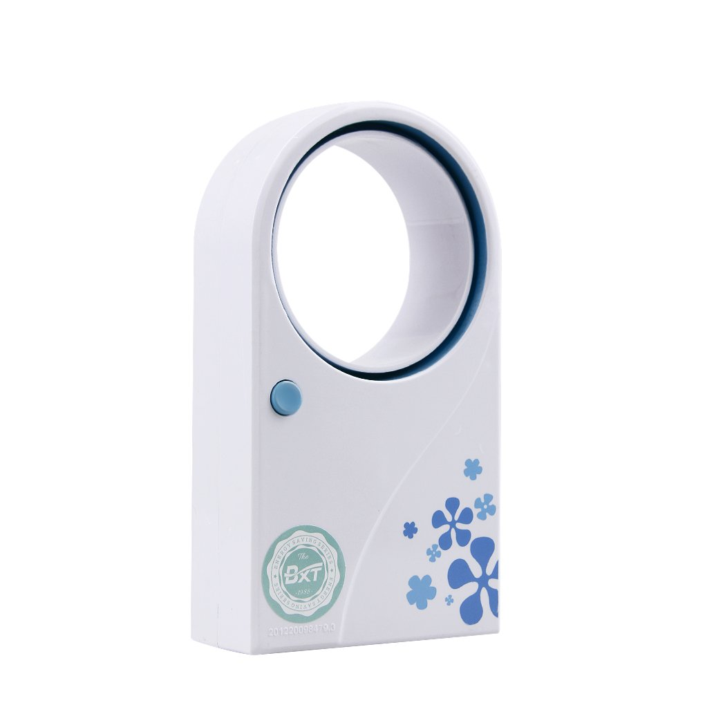 Portable USB Mini Rechargeable Air Cool Conditioner Summer Travel Sports Handheld Cooling Fan Bladeless Refrigeration Air Humidifier USB Battery Powered Home Office Mute Personal Cooler Table Fans