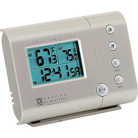 Oregon Scientific RAR601 Wireless Indoor/Outdoor Thermometer and Self-Setting Clock