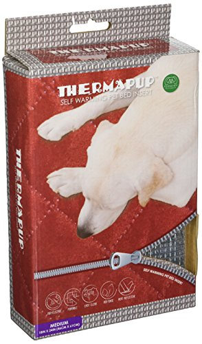 FurHaven Pet Heating Pad | Thermapup Self-Warming Pad for Dogs & Cats, Silver, Medium