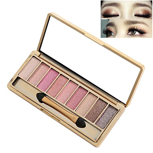 Best Pro Eyeshadow Palette Makeup - Matte + Shimmer 9 Colors