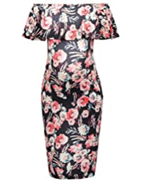 GRACE KARIN Sexy Maternity Off Shoulder Hips-Wrapped Pencil Dress CL10625