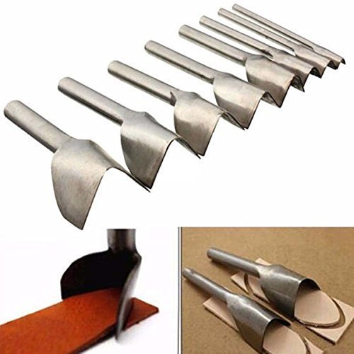Windspeed 6Pack DIY Round-shaped/V-Shaped Leather Cuttting Punch Cutter Tools for Belt/Wallet Garden DIY Handwork ,6 different sizes (V-Shaped)