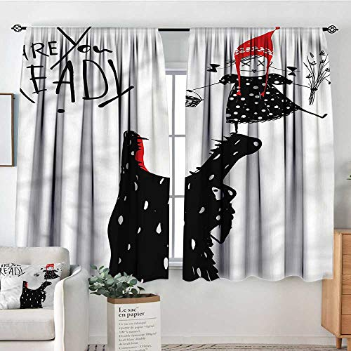 Sanring Modern,Backout Curtain Little Red Riding Hood Wolf 72