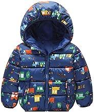 AIEOE Baby Boys Girls Down Coat Winter Cartoon Warm Hoodied Jacket Outwear