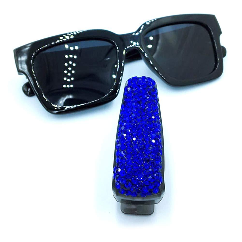 ZqiroLt Sonnenblende Brille Clip Karte Ticket Holder Clamp Auto Auto Sonnenbrille Brillen White AB Multicolor