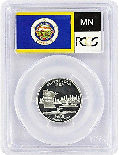 2005 Minnesota State S Silver Proof Quarter PR-69 PCGS - 2005 Minnesota State Quarter