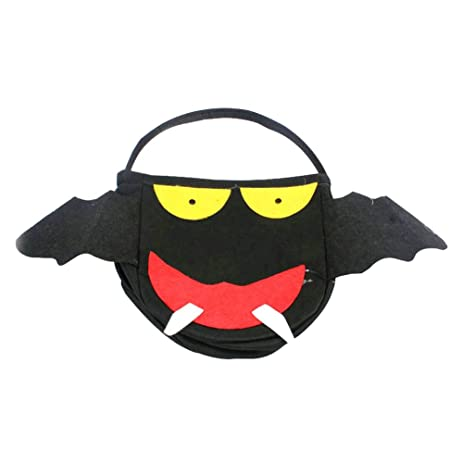 zeroyoyo halloween props bat monster tote bag kids candy present sack bucket children gift sweets trick