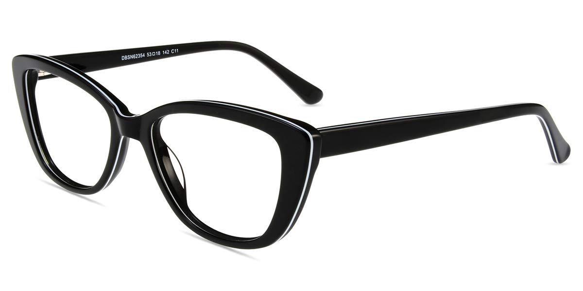 cf60076d2dc Firmoo Anti- Blue Light Computer Reading Glasses Vintage Cateye TR Plastic  Black-White Frame for Women