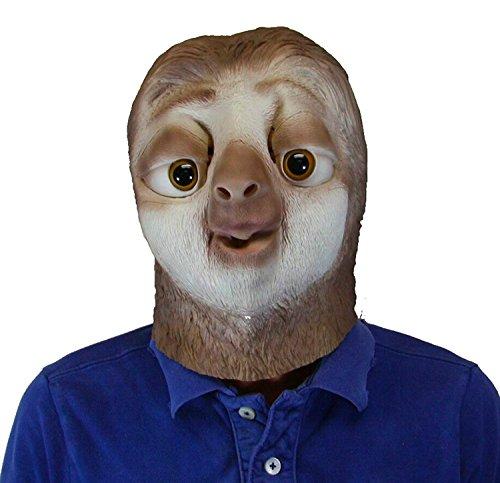 Sloth Costumes (Latex Sloth Head Mask)