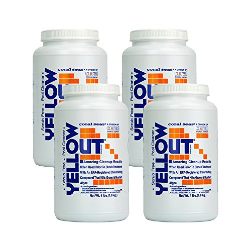 (Yellow Out Swimming Pool Chlorine Shock Enhancing Treatment - 4 x 4 lbs.)