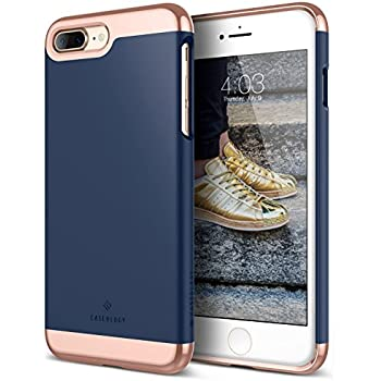 Caseology [Savoy Series] Case for iPhone 7 Plus (ONLY) - Slim Design Luxury Protective Premium Two-Piece Cover - (Navy Blue)