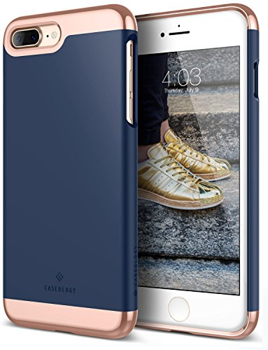 iPhone 7 Plus Case, Caseology [Savoy Series] Slim Two-Piece Slider [Navy Blue]...