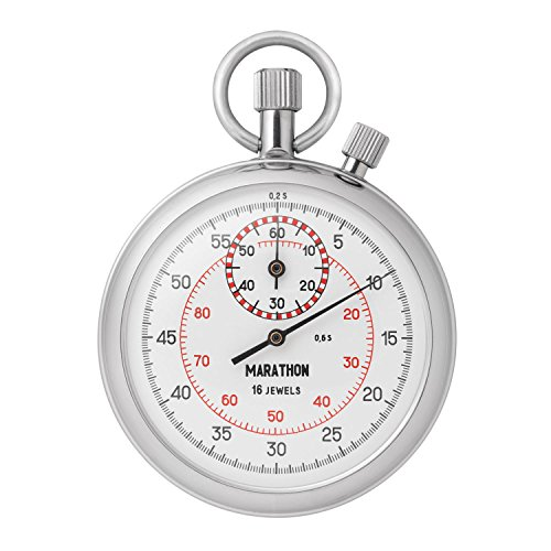MARATHON ST211004 Interruption Type Single Action Mechanical Windup Analog Stopwatch by Marathon