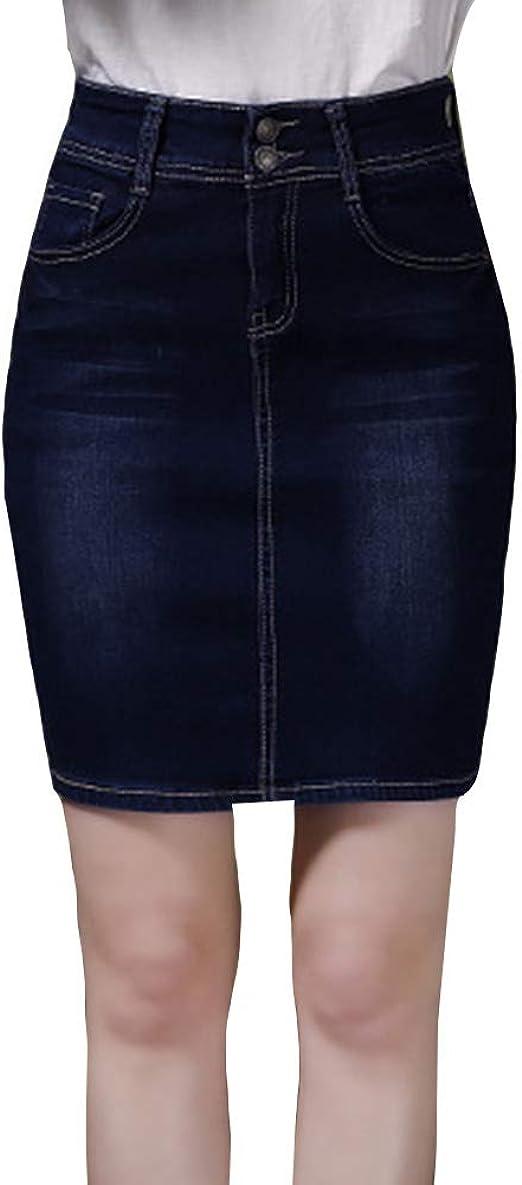 LaoZanA Mujer Falda Corta Lápiz Cintura Alta Retro Casual Falda ...