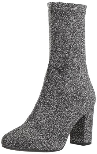 Kenneth Cole New York Women's Alyssa Stretch Shaft Boot with Heel Ankle Pewter